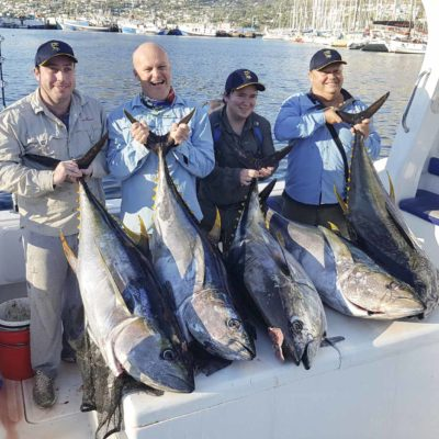 Deep Sea Tuna fishing catch with clients