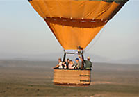 Hot air ballooning near cape town