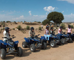 Quad Biking group at Atlantis dunes Cape Town