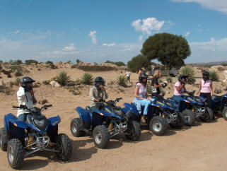 Quadbiking group at Atlantis dunes Cape Town