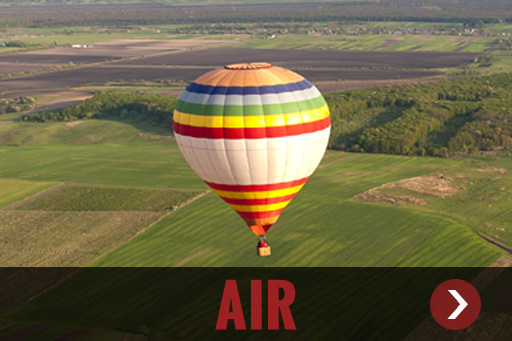 Air adventures like ballooons, skydiving, paragliding