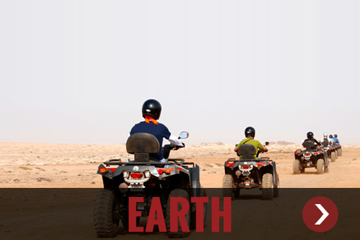Land based adventures including quads, tours, safaris