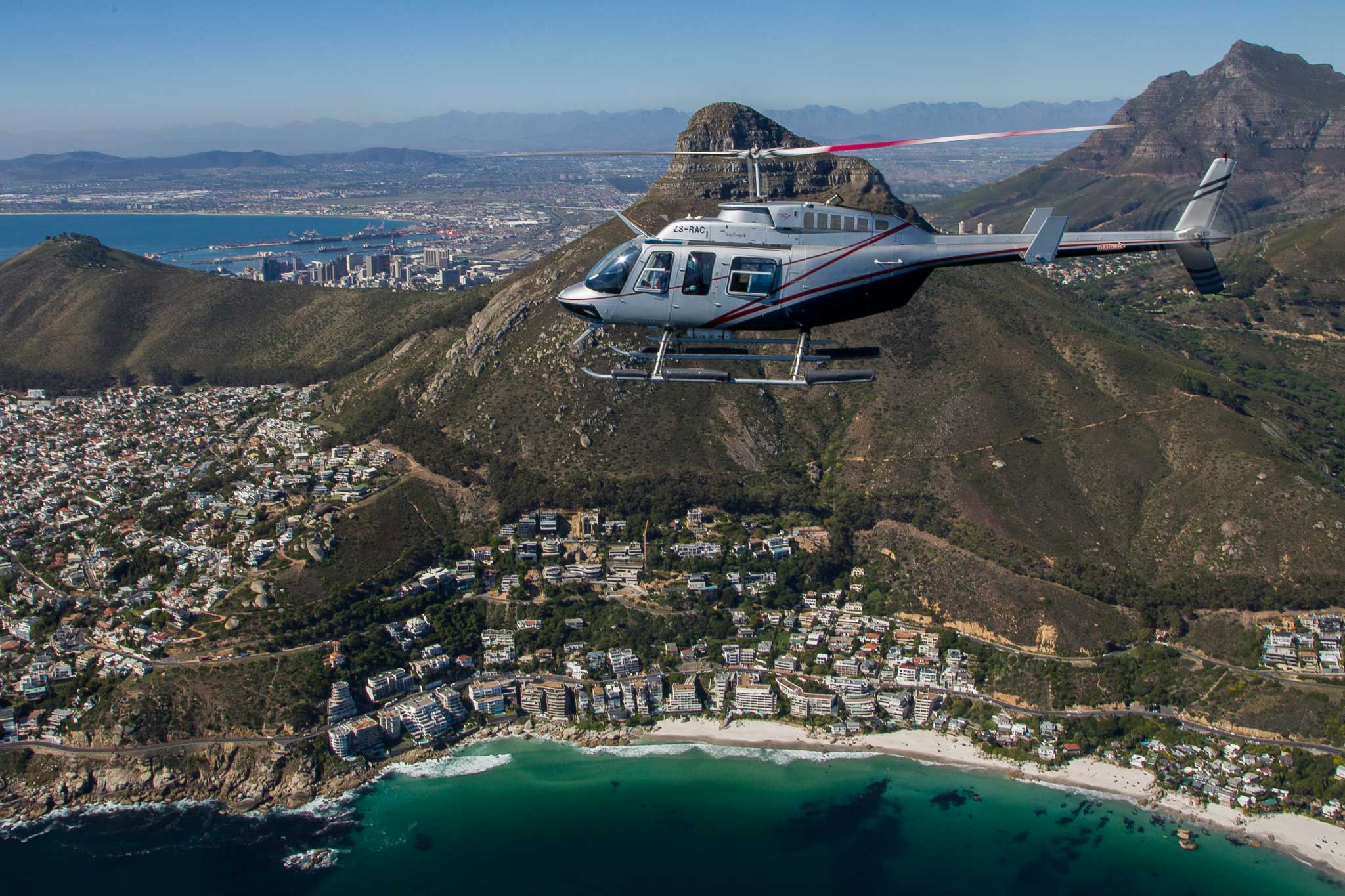 Helicopter tours cape town Atlantic beaches