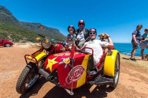 Sidecar motorcycle West Coast Tour